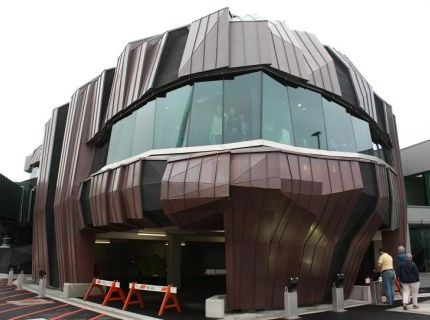 Bespoke stainless steel flashings to wellington airport rocks project