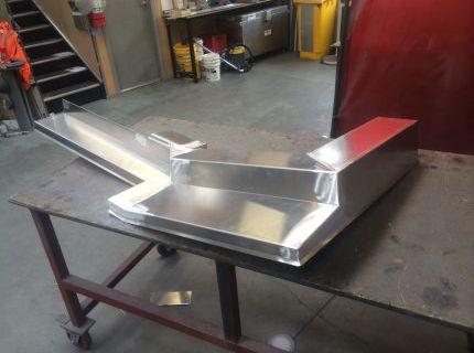 Custom made alloy welded flashings